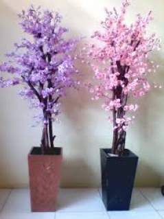 Bunga Hias Sakura Kami Melayani Hiasan Rumah Dinding Plastik Di Ruang Tamu