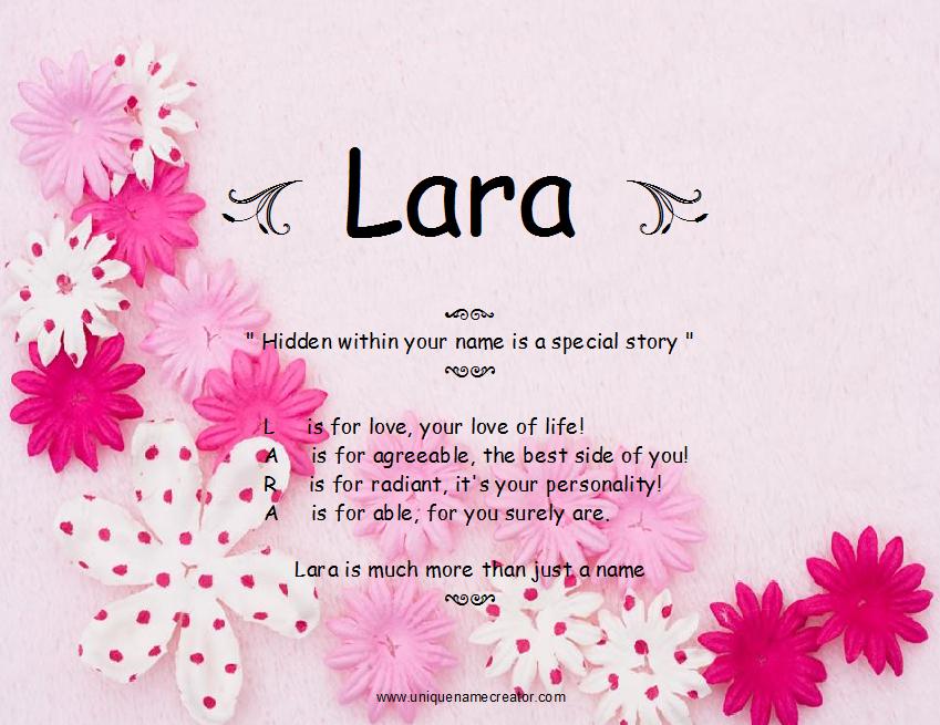 Лара имя картинка