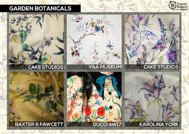 Textile Candy, Garden botanicals, botanical floral, Cake studios, V&A, Baxter fawcett, Gucci, Karolina York, Premiere vision, trend report, trend forecasting, Spring/Summer 2018, SS18