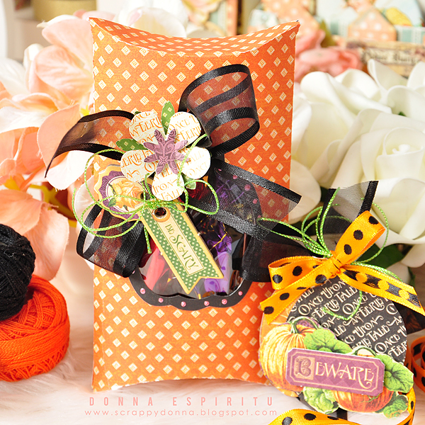 The Cutting Cafe: Halloween Pillow Box and Tag