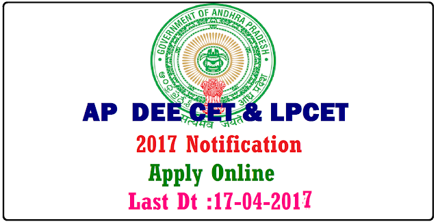 AP DEE CET and LPCET 2017 Notification| Admission Notification for AP DEE CET and LP CET 2017 | Department of School Education Governrment of Andhra Pradesh invite applications from interested candidates to complete the one year course of language pandit Training through the exam LPCET everyyear. LPCET will be conducted every year in the districts of the state. Qualified students of the course can get admissions in Government IASEs or CTEs along with private language pandit training colleges.| Andhra Pradesh Language Pandit Common Computer based Entrance Test 2017 Admission Notification | AP Diploma in Elementary Education Common Computer basede Entrance Test DEE CET 2017 admission Notification | AP DEE CET & LP CET 2017 Eligibilty,Age limit,Registration Fee,Process of Applying Syllabus,Imporatnt Dates will be updated in the official website http://cse.ap.gov.in| /2017/03/ap-dee-cet-and-lpcet-2017-notification-important-dates-apply-online-cse-ap-gov-in-hall-tickets-results_18.html