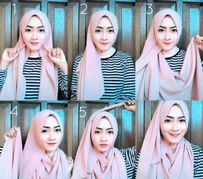 Tutorial Hijab dengan Ima Scarf alias Katun Ima yang Simple dan Modern