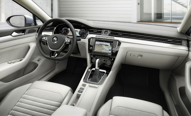 New Passat interior