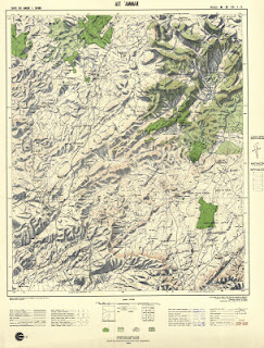 Ait-AMMAR Morocco 50000 (50k) Topographic map free download