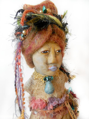Women's Empowerment Spirit Doll Gourd and Clay OOAK