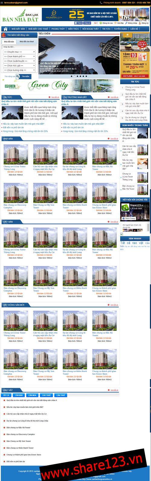 Mẫu blogspot bất động sản nhà đất Dak Lax đẹp 00028