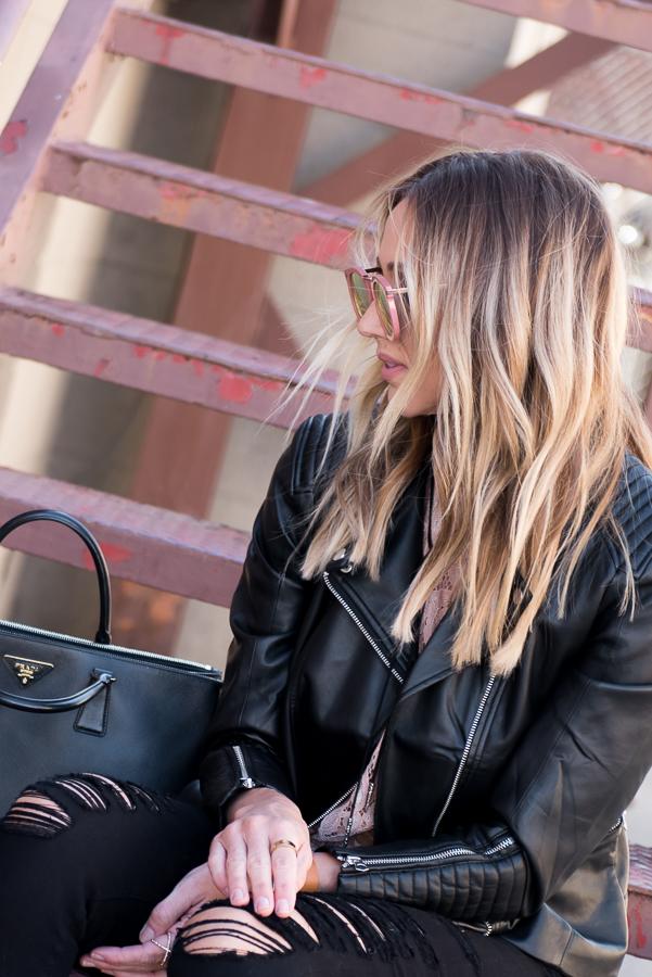 blonde lob balayage parlor girl