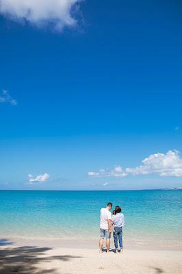 沖縄 ビーチフォト 家族写真