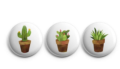 Cactus Magnetic Buttons