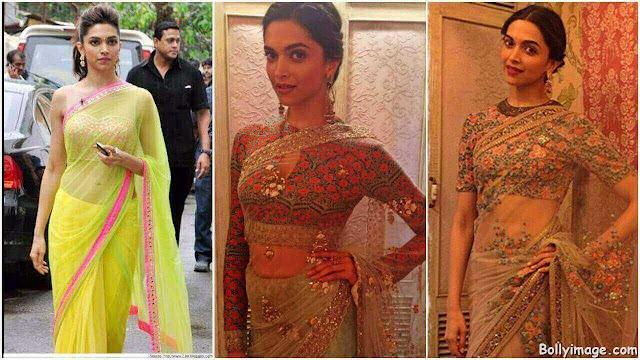 deepika padukone in saree pic