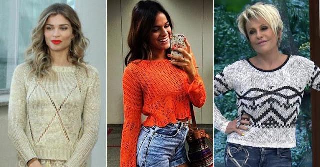 Famosas usando tricot