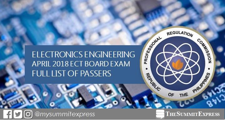 FULL RESULTS: April 2018 Electronics Technician ECT board exam