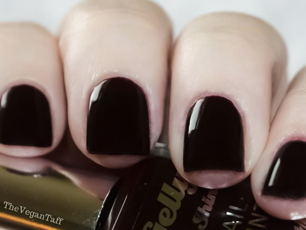 Manicure Monday   Barry M Midnight Gelly - Black Cherry   The Vegan Taff