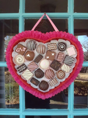 chocolate candy wreath