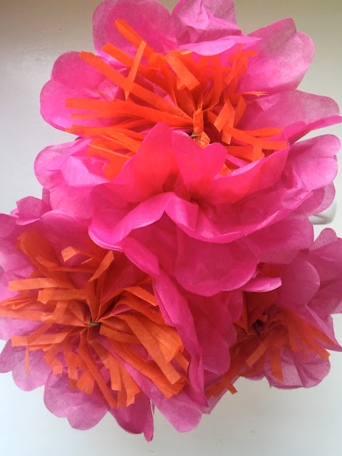 Pretty Pink Paper Flowers