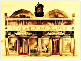 Livraria do Globo, Início do Século XX - Pintura de Vitório Gheno (1923)