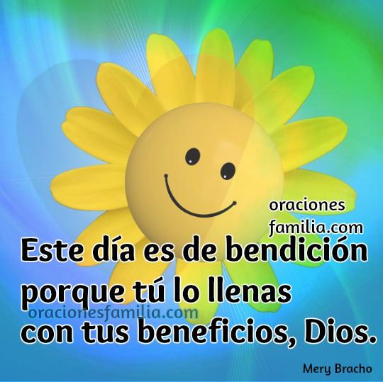 Frases con oraciones e imágenes para la mañana, buenos dias con oración cristiana para comenzar el día, tarjetas con oraciones por Mery Bracho