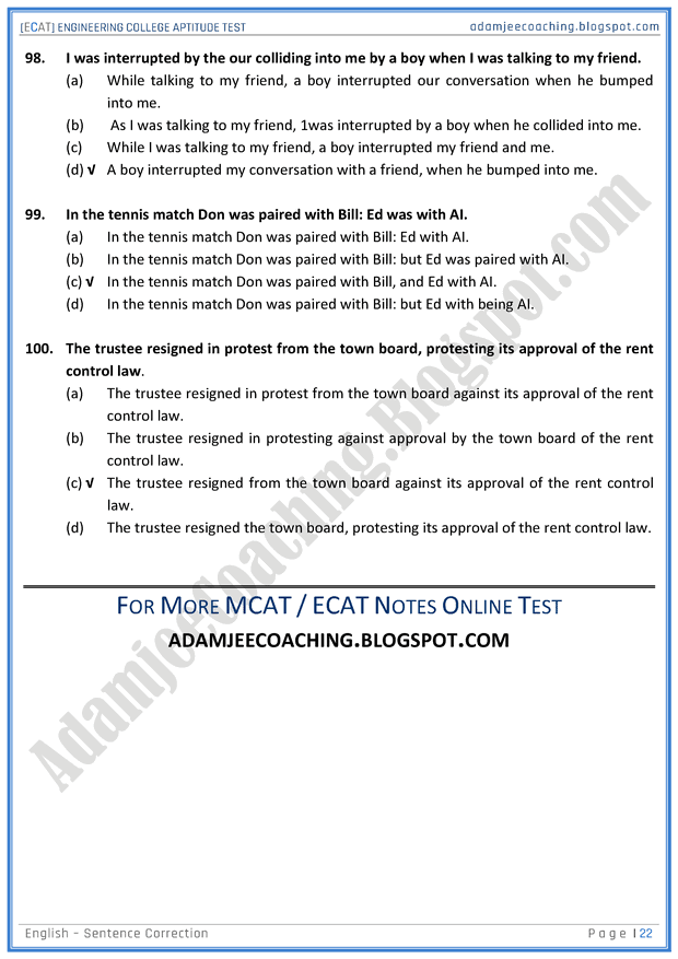 ecat-english-sentence-correction-mcqs-for-engineering-college-entry-test