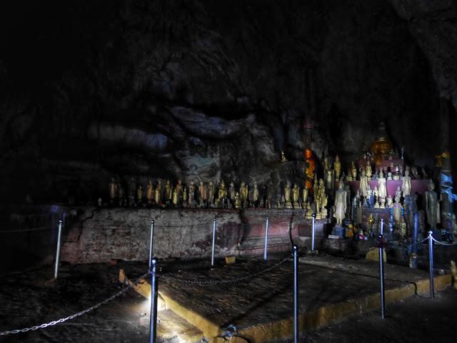 royal meditation area inside the dark upper cave