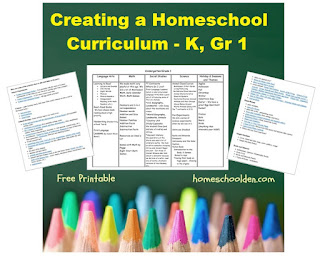 http://homeschoolden.com/2016/11/06/creating-a-homeschool-curriculum-kindergarten-grade-1/