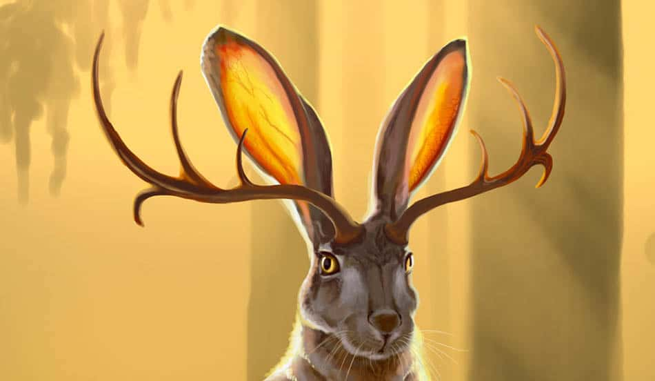 A,mitoloji, Jackalope,Boynuzlu tavşan, Boynuzlu tavşan efsanesi, Efsaneler, Efsanevi canlılar, Mit, Efsane ile aldatma, Mitolojik canlılar, Geyik boynuzlu tavşan,