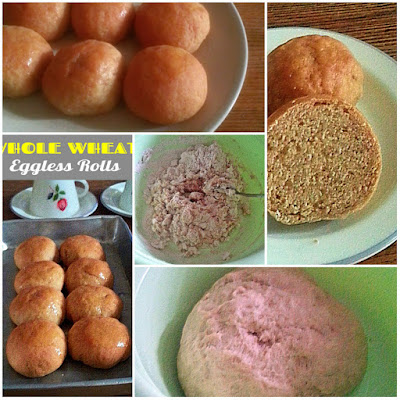 Whole Wheat Eggless Rolls Recipe @ treatntrick.blogspot.com