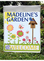 personalized welcome to my garden flag