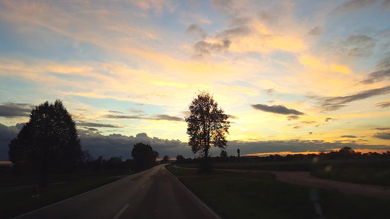 Sunset, Sonnenuntergang, Bad Wimpfen