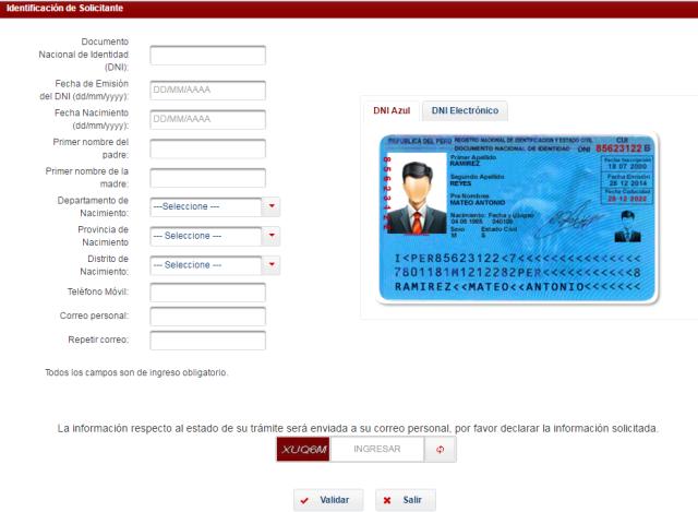 Solicitud de Certificado de antecedentes penales por web
