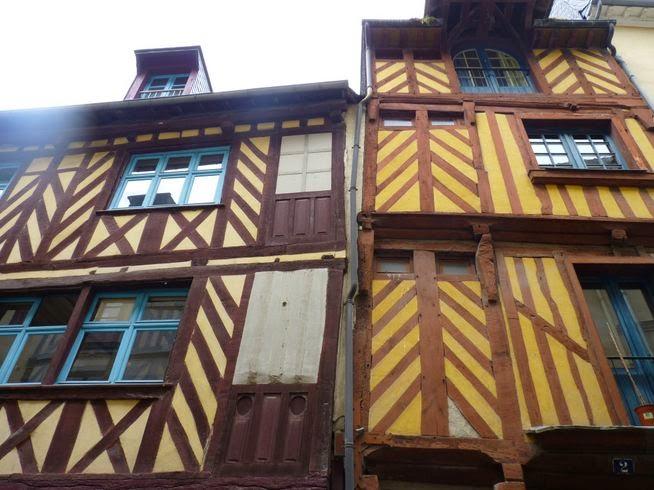Casas de entramado de madera de Rennes.