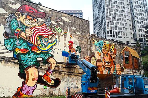 Street Art Paintings Kuala Lumpur