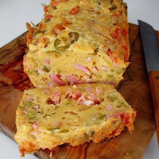 Recetas Saladas: cake de aceitunas y bacon