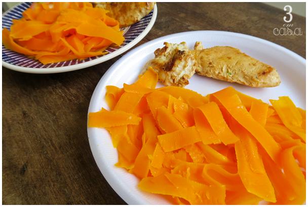 como fazer macarrão cenoura