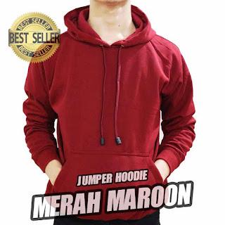 hoodie jumper polos maroon marun