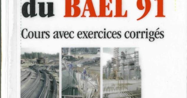 Pratique du bael 91 cours avec exercices corrig s jean for Cours construction batiment pdf