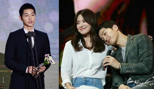 Menangkan Pasangan Terbaik di 'APAN 2016' Song Joong Ki dan Song Hye Kyo