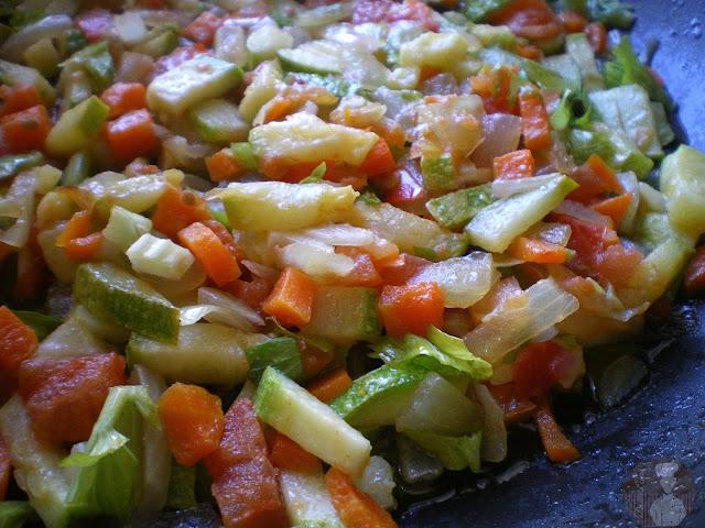 Maqlouba: sofrito de verduras