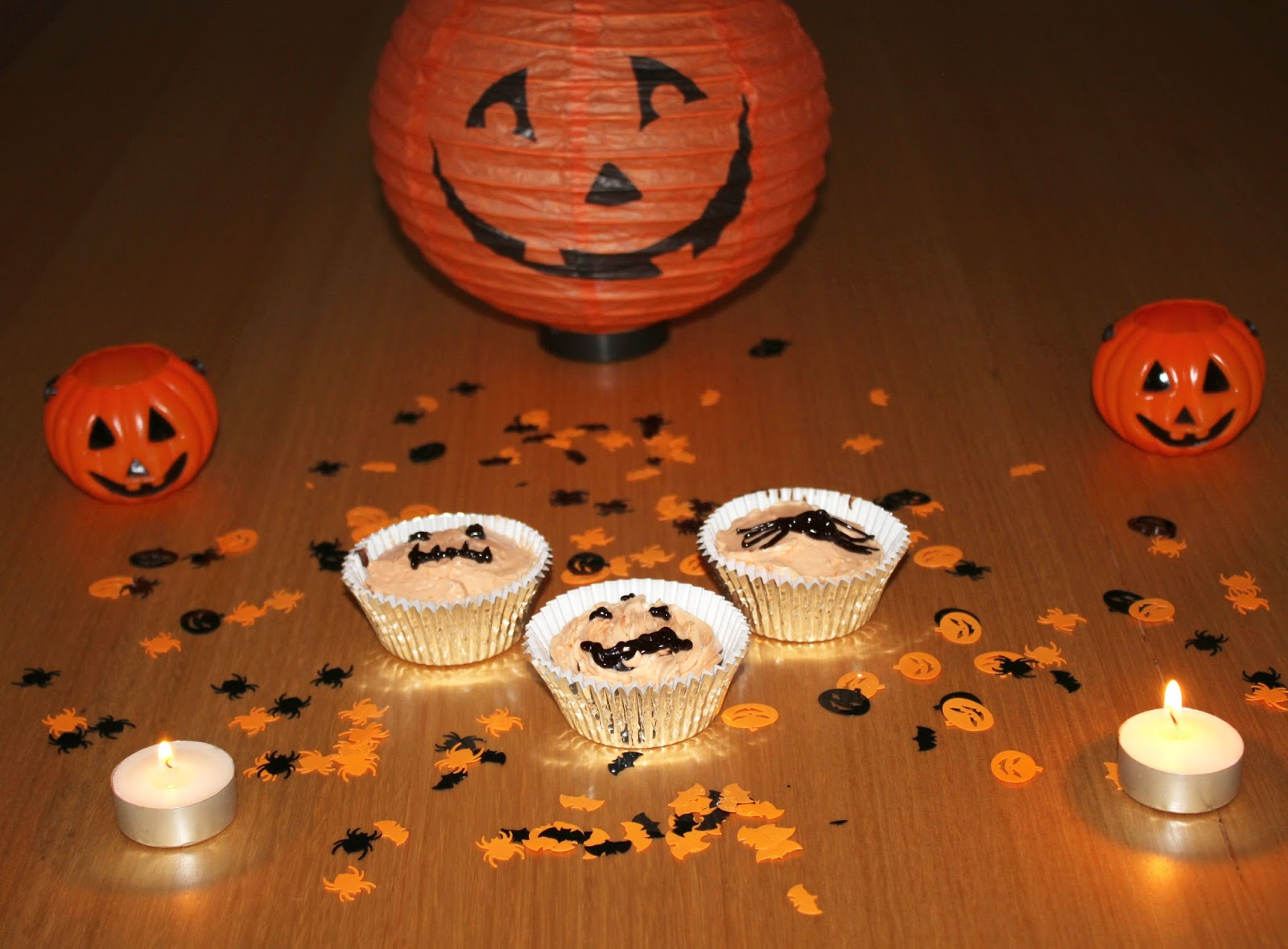 Chocolate Orange Halloween Cupcakes
