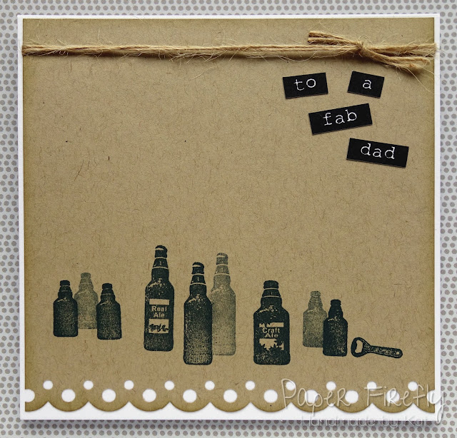 Beer bottle stamped card for Dad