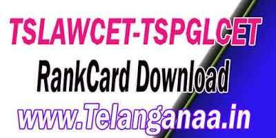 TS Telangana TSLAWCET-TSPGLCET 2019 RankCard Download