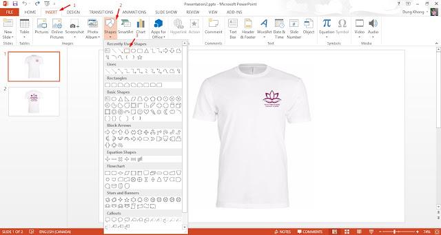 hướng dẫn thiết kế áo thun đồng phục