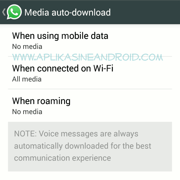 Auto download di whatsapp
