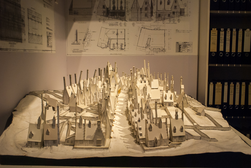 set model of Harry Potter Studios, Engalnd