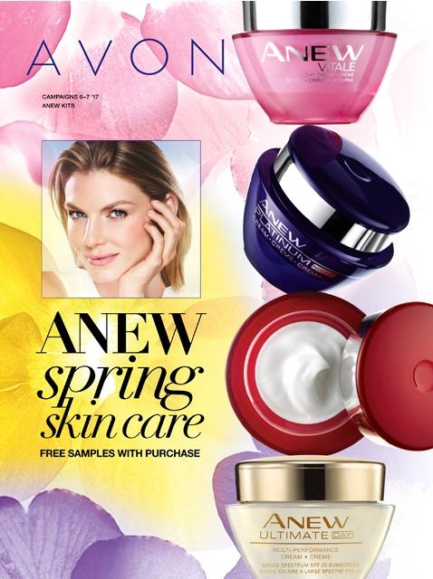 Avon Anew Spring Skincare Campaign 7 2017 Catalog Online MoxieMavenBeauty.com