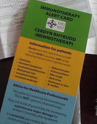 Pembrolizumab, Immunotherapy Alert Card. bellybuttonpanda.co.uk