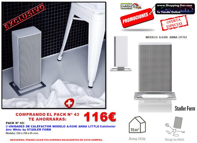 Llévate 3 calefactores en tu compra y ahorrarás 100€ en esta compra.