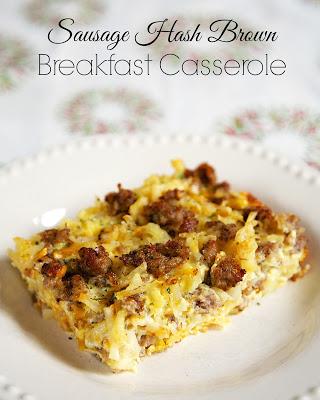 SAUSAGE HASH BROWN BREAKFAST CASSEROLE RECIPE