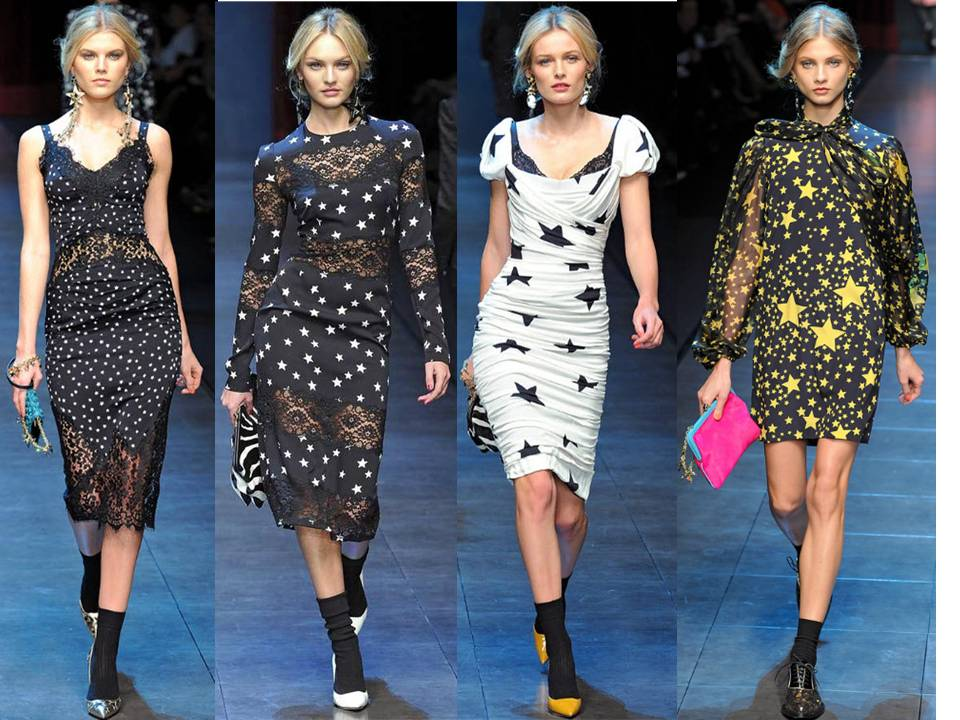 c168f1b8 More Star print dresses and Accessories on the Dolce & Gabbana Fall 2011  runway