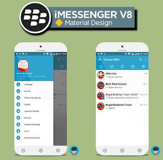 Download BBM MOD IMESSENGER  V8 APK V3.0.1.25  New Update