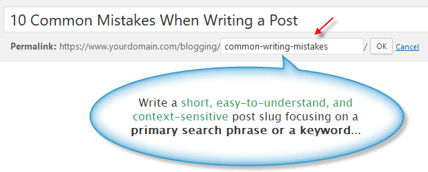 Custom post slug within WordPress post editor